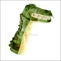 Long sleeved glove puppet crocodile