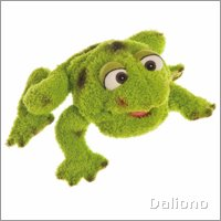 Living Puppets hand puppet small Rolf the frog