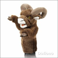Folkmanis hand puppet bighorn sheep (stage puppet)