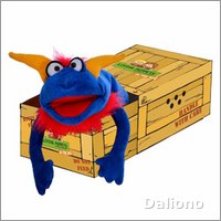 Living Puppets hand puppet Crazy Blue in the box