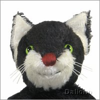 Hand puppet black cat - made of natural material - by Kallisto