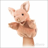 Folkmanis hand puppet little pig (small stage puppet)