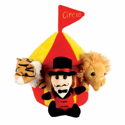 Finger puppets set hide away circus tent