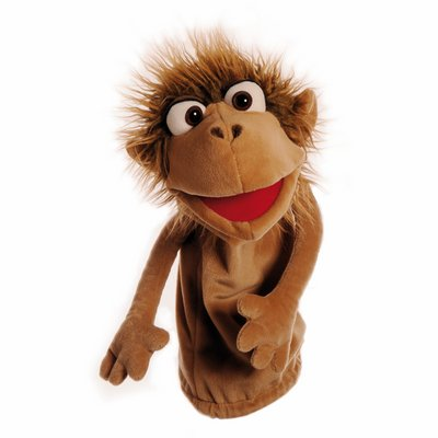 Living Puppets sockette hand puppet Pinkus the monkey