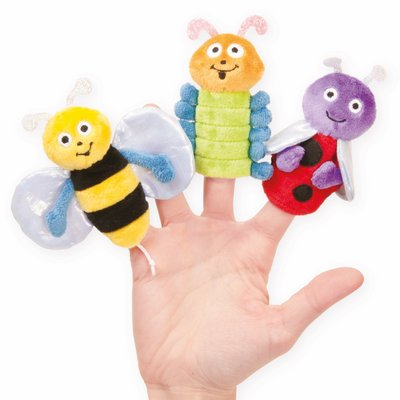 Finger puppets set - Bumbling Bugs (3 characters)