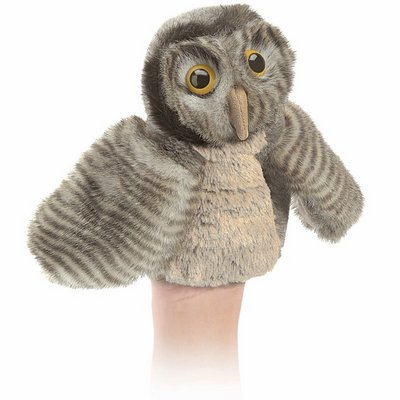Folkmanis hand puppet little owl (small stage puppet)