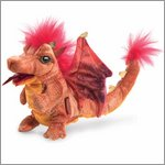 Folkmanis hand puppet fire dragon